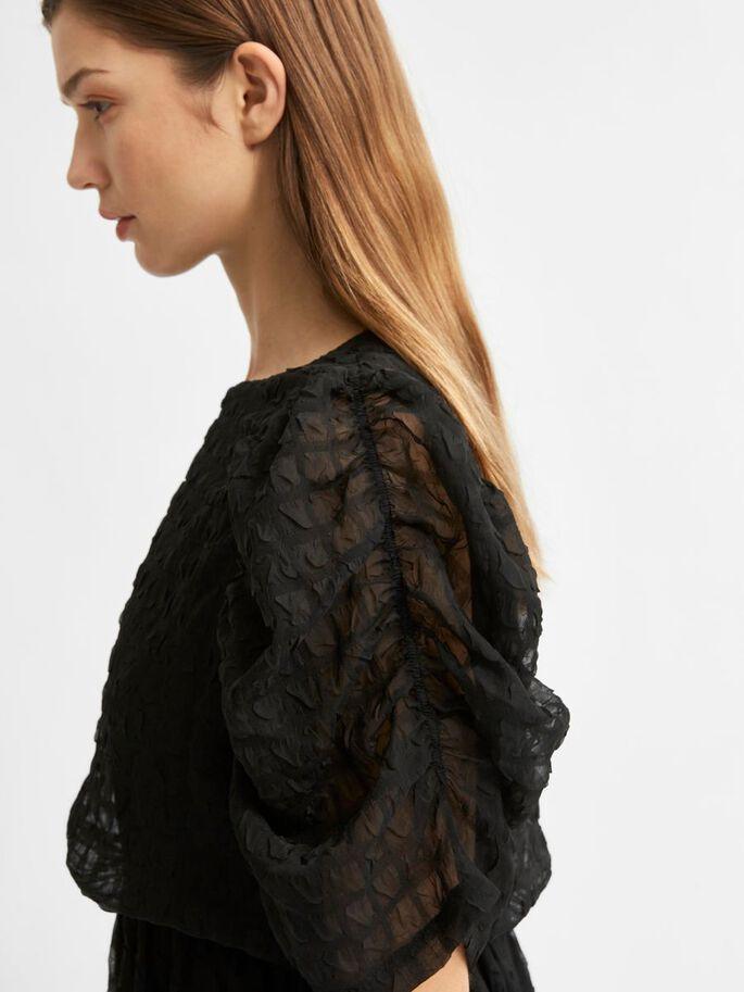 Selected Femme, schwarzes Midi Kleid - Die Pampi